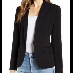 Vince Camuto notch collar blazer black NWT